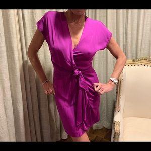 Diane Von Furstenberg silk purple dress